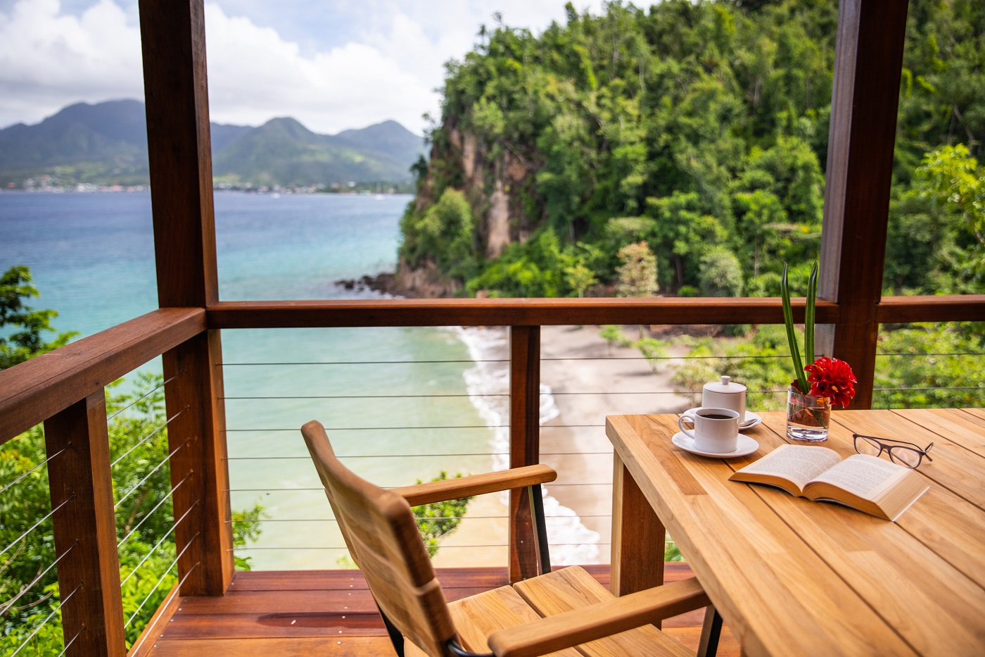 Secret Bay's Ti-Fey Villa Balcony