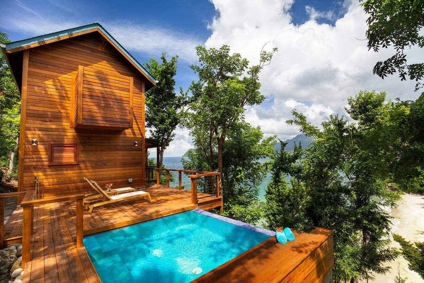 Secret Bay's Ti-Fey Villa Private Plunge Pool